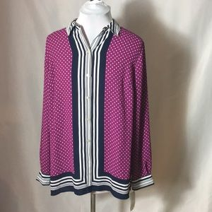 Button front blouse by Charter Club